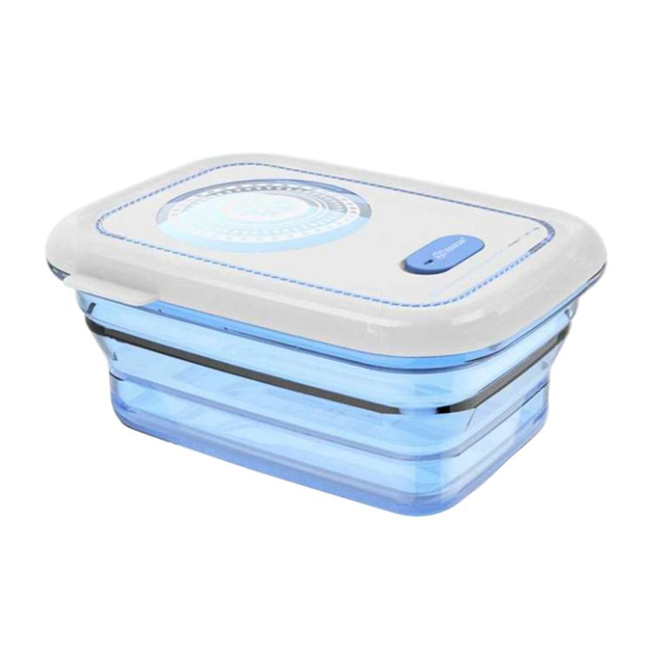 Haakaa: Silicone Collapsible Food Storage Container - Blue image