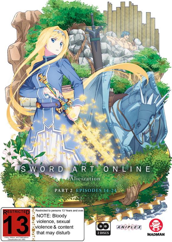 Sword Art Online Alicization - Part 2 (Eps 14-24) on Blu-ray