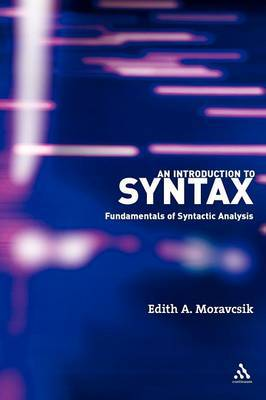 An Introduction to Syntax by Edith A. Moravcsik