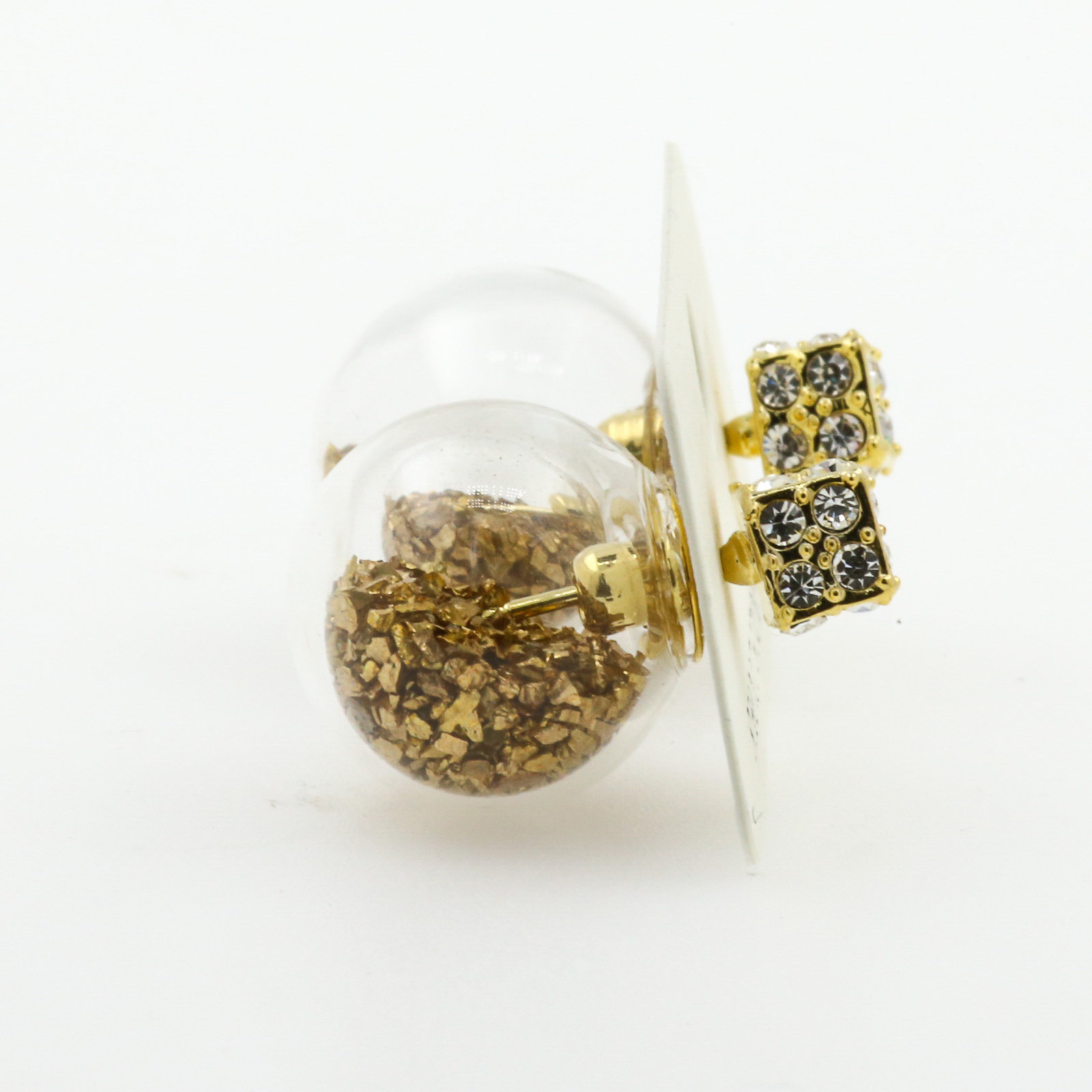 Short Story: Fantasy Bubble Earrings - Confetti Gold image