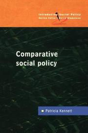 COMPARATIVE SOCIAL POLICY by Patricia Kennett image