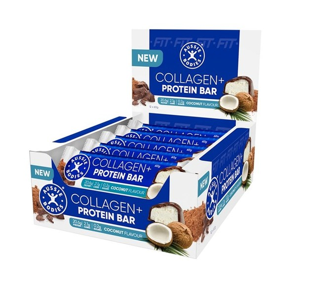 Aussie Bodies Collagen Protein Bar - Coconut (12x60g)
