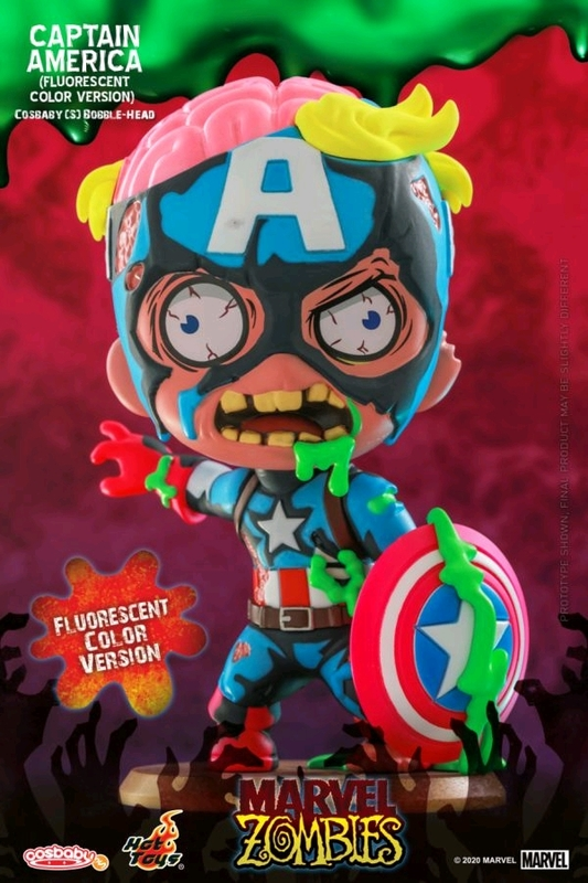 Marvel Zombies: Captain America (UV Glow) - Cosbaby Figure