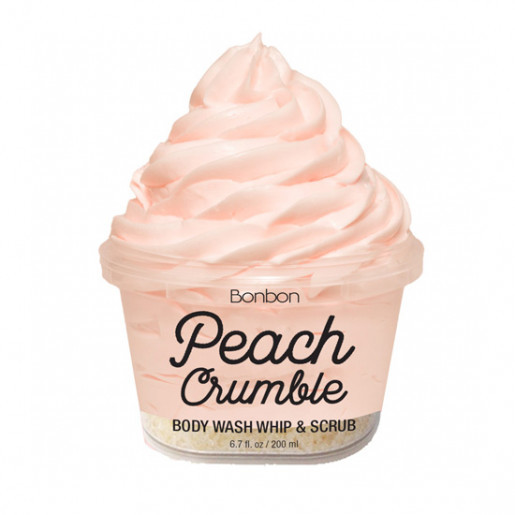 The Bonbon Factory Body Wash & Scrub - Peach Crumble (200g)