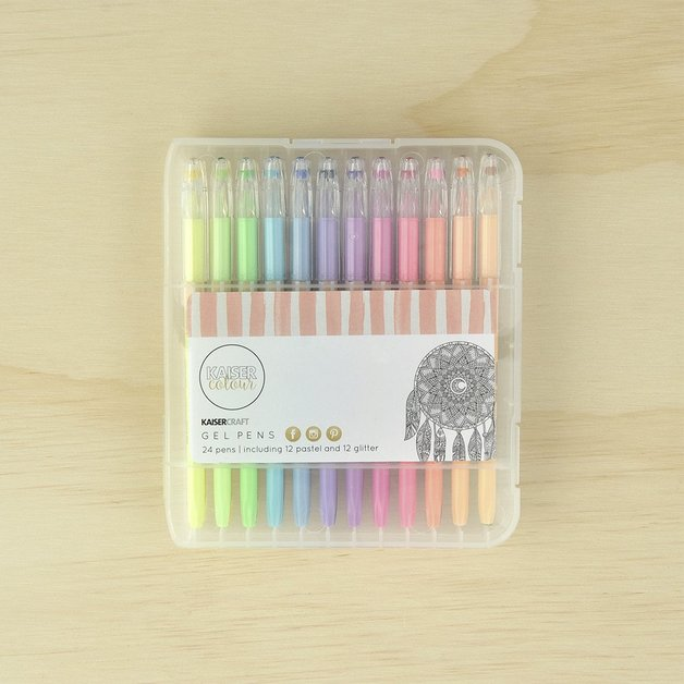 Kaisercraft: Gel Pens 24 Pen Set