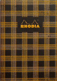 Heritage A5 Sewn Spine Notebook Lined - Tartan Black