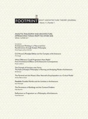 Footprint 20 Analytic Philosophy and Architecture - Approaching Things from the Other Side Vol 11/1