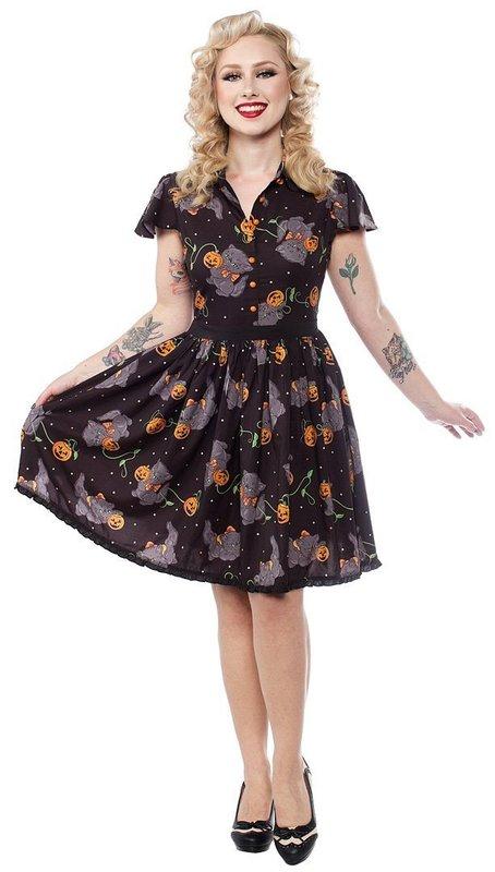 Sourpuss Feline Spooky Lydia Dress (L)