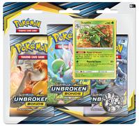Pokemon TCG: Unbroken Bonds - Sceptile 3-Pack Blister Set