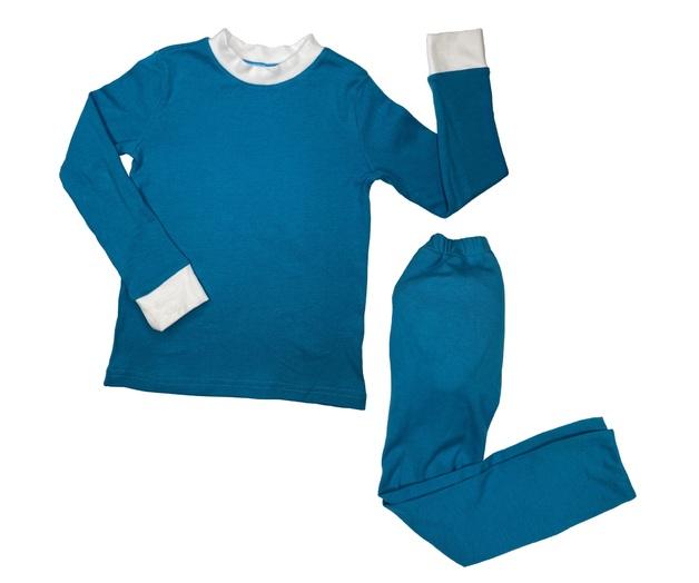 Brolly Sheets: Peejamas Pajamas - Grey/Teal Longs (4T, 2 Pack)