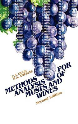 Methods Analysis of Musts and Wines by Maynard Andrew Amerine image