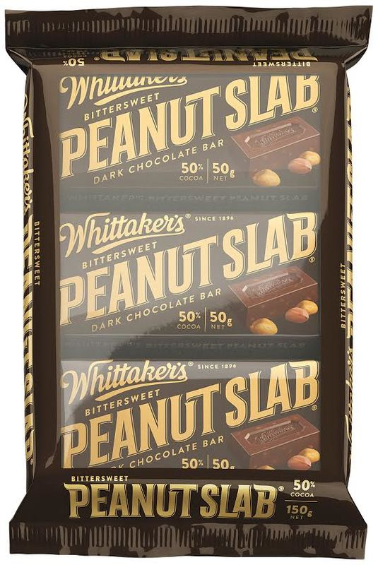 Whittaker's Bittersweet Peanut Slab - Dark Chocolate (3 Pack)