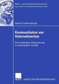 Kommunikation Von Unternehmertum by Helmut Sch Nenberger