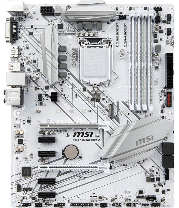 MSI B360 GAMING ARCTIC ATX Motherboard image
