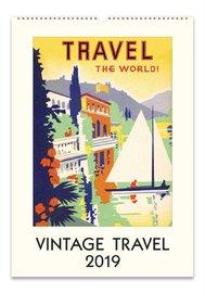 Vintage Travel 2019 Wall Calendar