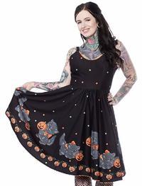 Sourpuss Feline Spooky Sweets Dress (XL)