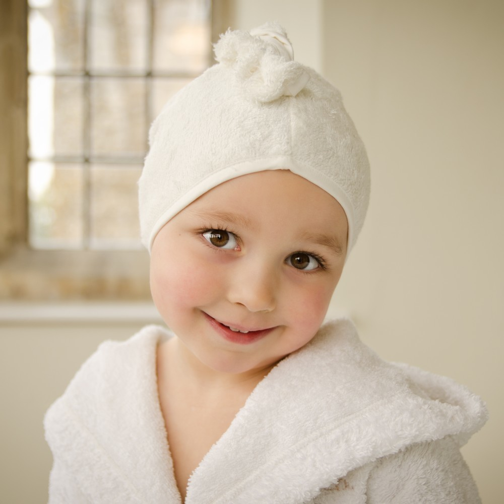 Cuddletwist Bamboo Hair Towel - White image