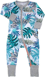 Bonds Zip Wondersuit Long Sleeve - Honolulu Sunrise - 3-6 Months