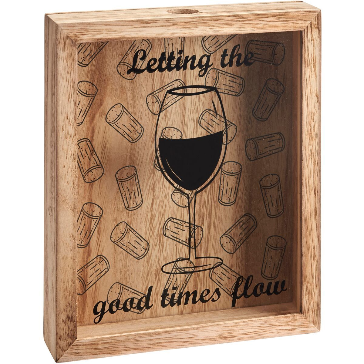 Cork Collector Art Plaque - Let the Good Times Flow image