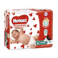 Huggies Essentials Nappies Bulk - Size 2 Infant (54)