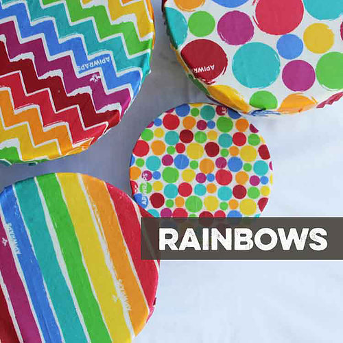 Apiwraps Extra Large Beeswax Food Wrap (Rainbows) image
