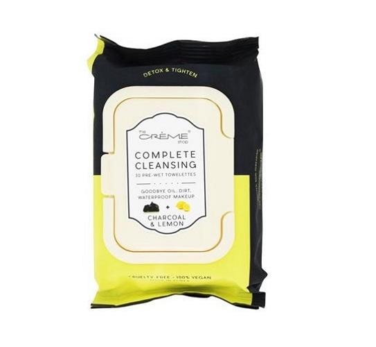 The Creme Shop Charcoal + Lemon Cleansing Towelettes (30s)
