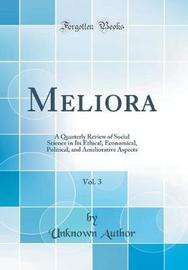 Meliora, Vol. 3 by Unknown Author image
