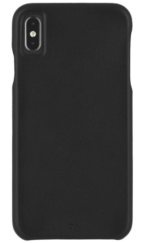 Casemate: XS Max Barely There Leather - Black