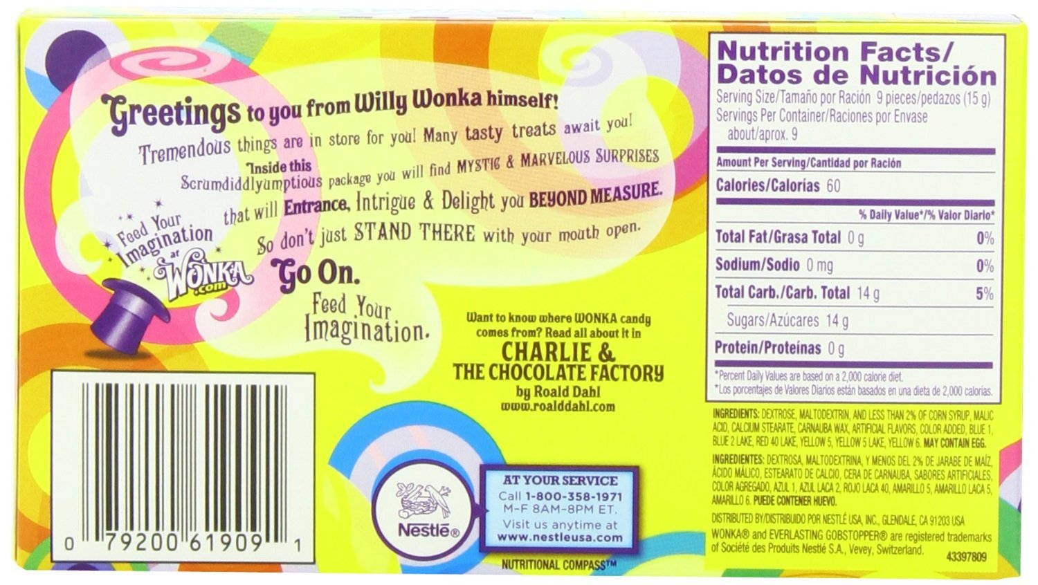 Wonka Gobstopper Theater Box 141g image