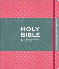 NIV Pink Polka Dot Journalling Bible with Unlined Margins by New International Version