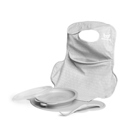 Herobility: Eco Placement Feeding Set - Mist Gray