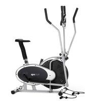 Ape Style Elliptical Cross Trainer with Heart Rate Monitor & Resistance Bands