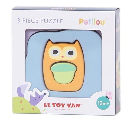 Le Toy Van: Petilou - Owly Woo 3 Piece Puzzle image