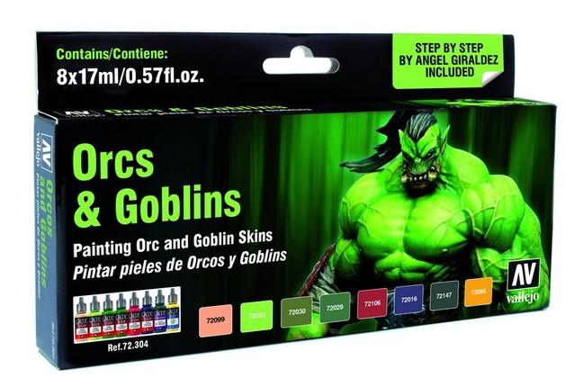 Vallejo Game Colour Orcs & Goblins Paint Set