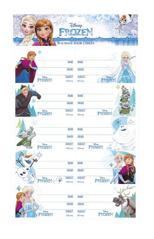 Disney Frozen Book Labels