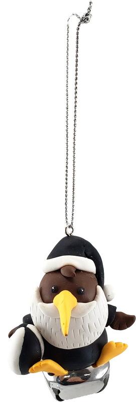 All Blacks Kiwi Santa Decoration
