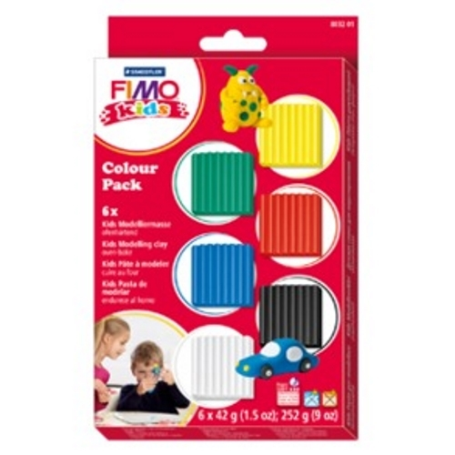 Staedtler Fimo Kids Modelling Clay - Basic Colors (Set Of 6) image