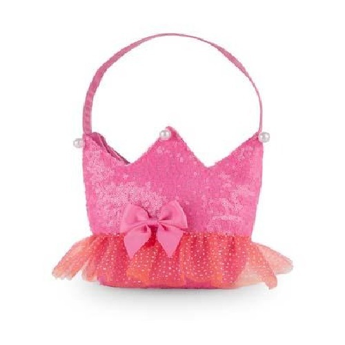 Pink Poppy: Forever Sparkle Crown Shoulder Bag - (Hot Pink)