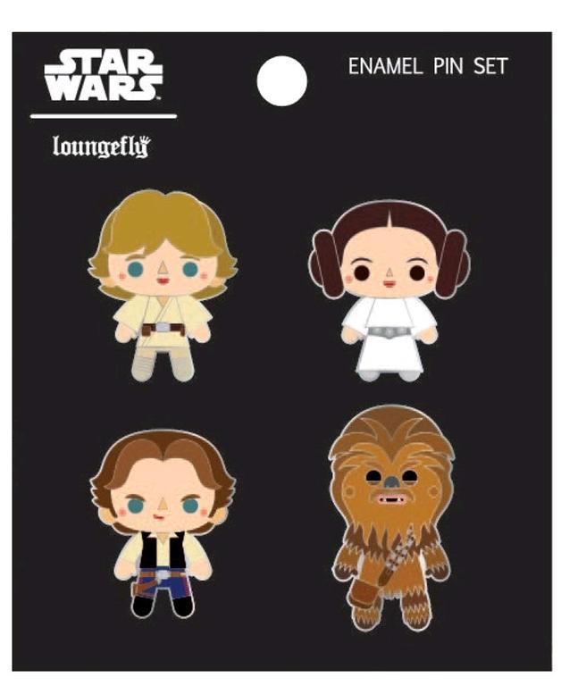 Loungefly: Star Wars - Chibi Enamel Pin/4-Pack