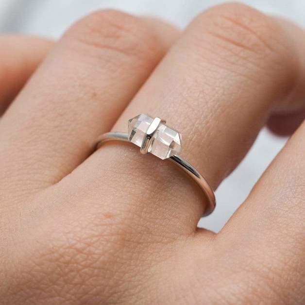 Midsummer Star: Dainty Empress Crystal Ring (Size 8)