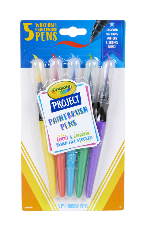 Crayola: Project - Paintbrush Pens (5-Pack)