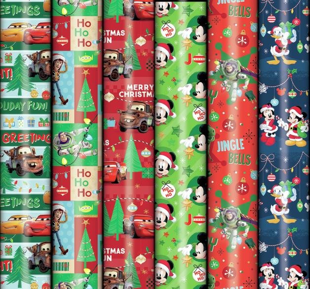 Patelena House: Christmas Roll Wrap - Disney Blue 3M (Assorted Designs)