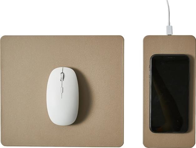 Pout HANDS 3 SPLIT Detachable Fast Wireless Charging Mouse Pad Latte Cream