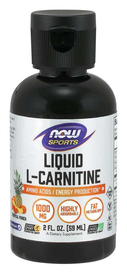 Now Foods: L-Carnitine 1000mg - Tropical Punch (59ml) image