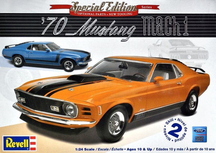 Revell 70 Ford Mustang Mach 1 2 N1 1 24 Model Kit Images