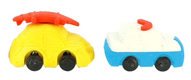 Erasables: Cars Eraser Set - Small
