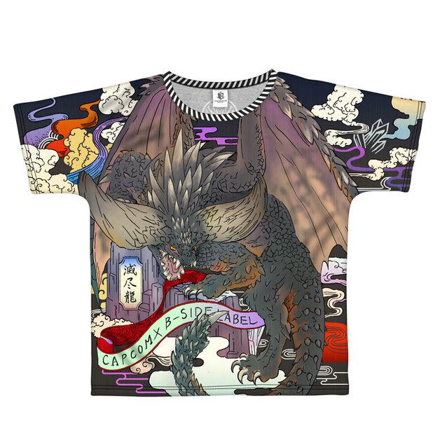 Monster Hunter: World Full Graphic T-Shirt B-Side Label Nergigante L