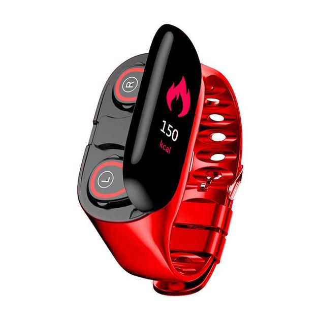 2 in 1 Wireless Bluetooth Earbus & Smart Watch -Black