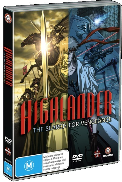 Highlander - The Search For Vengeance on DVD