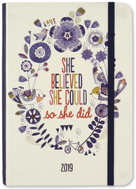 Peter Pauper: She Believed 16 Month 2019 Compact Diary